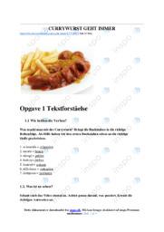Currywurst geht immer | Opgave | 12 i karakter
