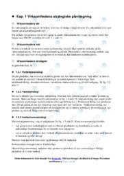 Virksomhedens strategiske planlægning | Noter VØ