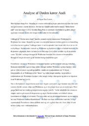 Døden kører Audi | Analyse | Kristian Bang Foss | 10 i Karakter
