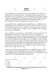 Fingre   Analyse   Frida Isberg   10 i Karakter