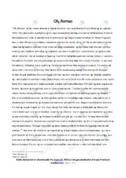 Oh, Romeo | Analyse | Merete Pryds Helle | 10 i Karakter