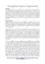 Patienten | Analyse | Peter Seeberg | 10 i Karakter