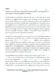 Returbillet | Analyse | Katrine Marie Guldager | 10 i Karakter