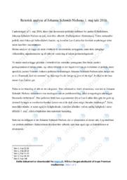 Tale | Analyse | Johanne Schmidt-Nielsens | 10 i Karakter