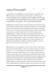 Torben og Marie | Analyse | Naja Marie Aidt | 10 i Karakter