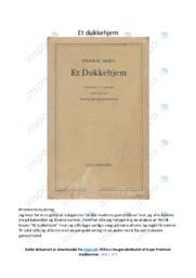Et dukkehjem   Analyse   Henrik Ibsen   10 i Karakter