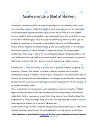 Klokken   Analyse   H.C Andersen   10 i Karakter