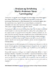 Lønningsdag   Analyse   Martin Andersen Nexø   10 i Karakter