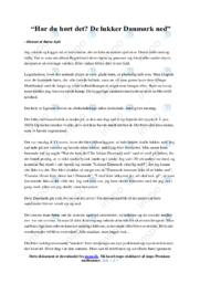De lukker Danmark ned | Dansk Essay | 12 i Karakter