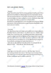 Den Arabiske Prins | Analyse | Yahya Hassan | 12 i Karakter