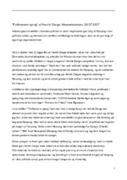 """""""Forførerens sprog"""" af Henrik Dørge, Weekendavisen"""