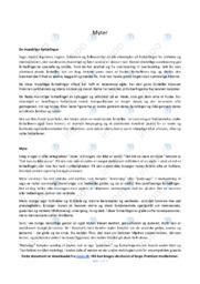 Myter | Noter Analyse