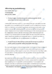 Markedskortet   Afsætning   10 i Karakter