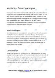 Vapiano | Brancheanalyse | Afsætning Case | 10 i Karakter