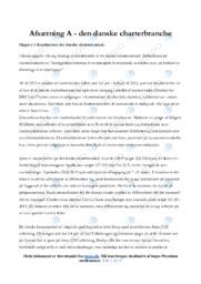 Den danske charterbranche | Noter Afsætning