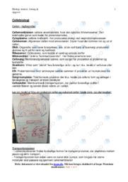 Cellebiologi   Noter Biologi