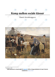 Kamp mellem sociale klasser | DHO | 10 i Karakter