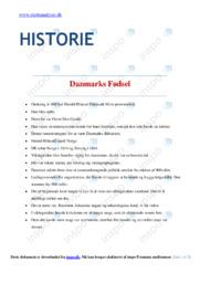 Stort Dokument | Noter Historie