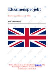 Corona og Storbritannien | IØ opgave | 10 i karakter