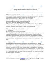 De danske politiske partier   Samfundsfag   Noter