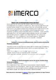 Forretningsmodel Imerco   VØ   10 i Karakter