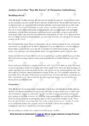 Den lille Karen | Analyse | Thomasine Gyllembourg