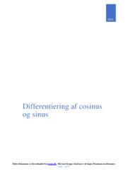 Differentiering af cosinus og sinus | Matematik opgave