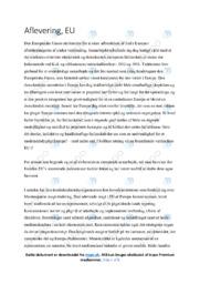 Den Europæiske Union | Samfundsfagsopgave | 12 i karakter