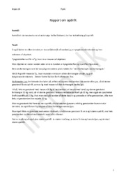 Opdrift  – Forsøg & Rapport