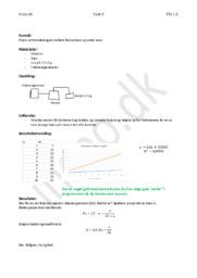 Stående bølge på en streng – Fysik Rapport