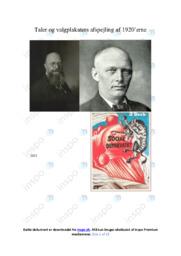 Taler og valgplakaters i 1920'erne   DHO   10 i Karakter