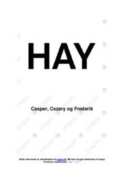 Hay   Afsætning Case   10 i Karakter
