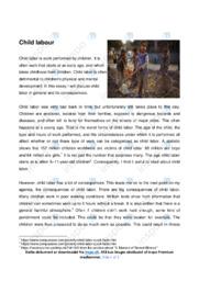 Child labour   Engelsk Essay