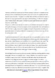 DNC speech   Analyse   Michelle Obama   10 i Karakter