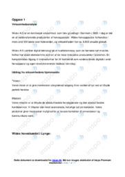 Widex AS   Virksomhedsøkonomi   10 i Karakter