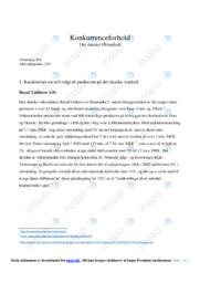 Royal Unibrew AS | Afsætning Case | 10 i Karakter