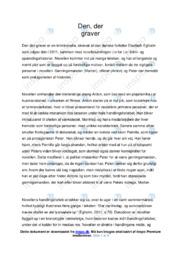 Den der graver | Analyse | Elsebeth Egholm | 10 i Karakter