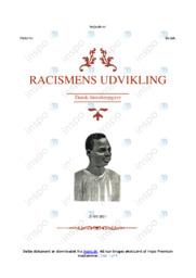 Racismens Udvikling | DHO | 12 i Karakter