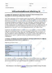 Ejner Hessel AS | Virksomhedsøkonomi | 10 i Karakter