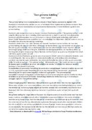 Den grimme kælling | Noter Analyse | Peter Fogtdal