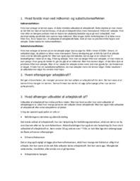 Indkomst | og substitutionseffekten | Noter International økonomi