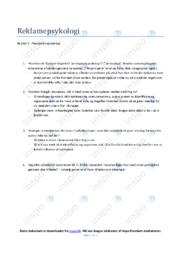 Reklamepsykologi | Noter Afsætning