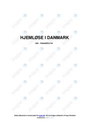 Hjemløse I Danmark   International økonomi   10 i Karakter