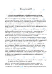Økonomisk politik   Samfundsfag   10 i Karakter
