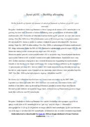 Synet på EU   Samfundsfag   10 i Karakter
