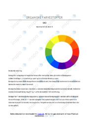 Organiske farvestoffer | SRO | 10 i karakter