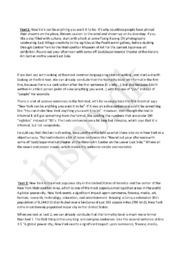 Stilistisk analyse af tekstuddrag om New York – 2 tekster
