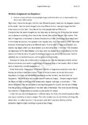 Happiness – Written assignment | Engelsk Eksamen