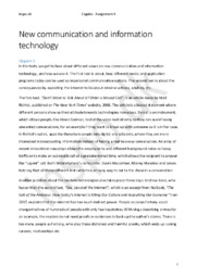 Communication and Information Technology | Eksamenssæt eng b 2. maj 2009