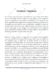 Jomfruen i fugleham | Analyse | Bo Nielsen | 12 i Karakter
